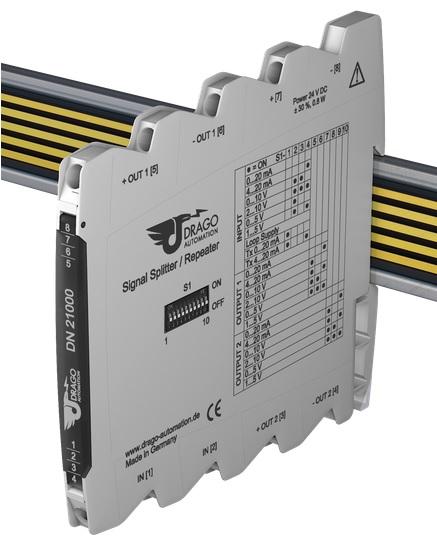 DIP switch trên bộ chia tín hiệu 4-20mA giá rẻ