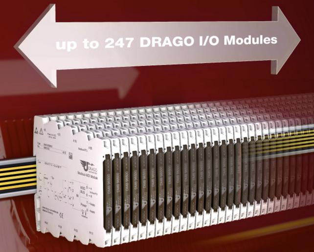 Bộ chuyển đổi tín hiệu Modbus RTU hãng Drago